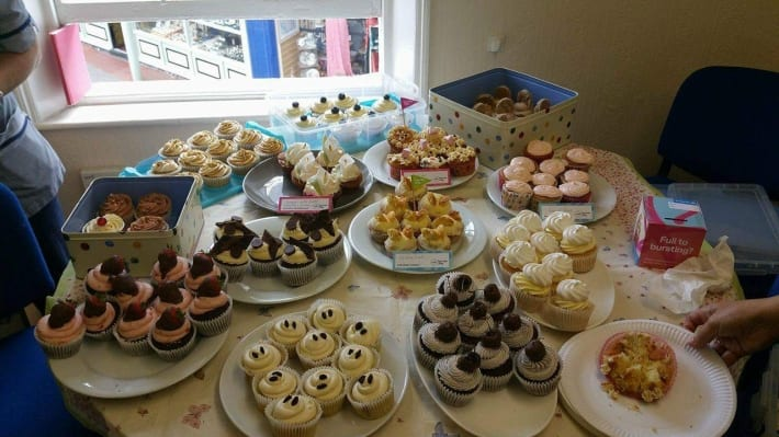 Fundraising with a cake sale